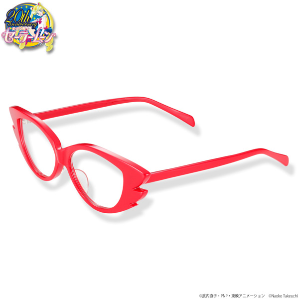 「セーラーV」のコスチュームの一部として印象的な赤いメガネを立体化。