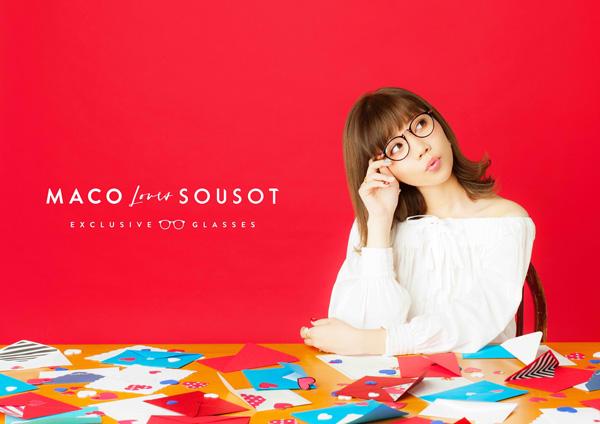 MACO 2ndアルバム「love letter」の「MACO×SOUSOT」バージョンのポスター。