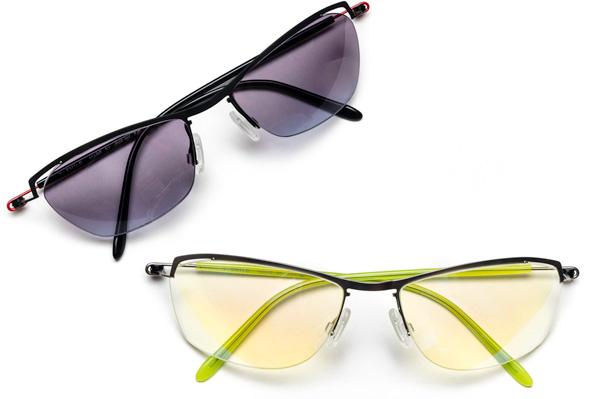 カーブの深いカラーレンズを入れてスポーツサングラスとして使うこともできる。調整次第でこんなにも幅広く対応できるメガネフレームはとても貴重。「メガネを作る」醍醐味を味わえる。