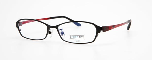 眼鏡市場 FREE FiT(フリーフィット)FFT-1001 カラー:BK(ブラック、写真)・BR(ブラウン)・GR(グレー)・NV(ネイビー) 価格:16,200円(税込、レンズ代込み)
