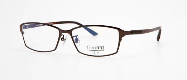 眼鏡市場 FREE FiT(フリーフィット)FFT-1002 カラー:BK(ブラック、窪田正孝着用モデル)・BR(ブラウン、写真)・DGR(ダークグレー)・NVM(ネイビーマット) 価格:16,200円(税込、レンズ代込み)