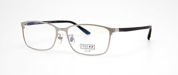 眼鏡市場 FREE FiT(フリーフィット)FFT-1003 カラー:BKM(ブラックマット)・GR(グレー)・LGR(ダークグレー、写真)・NVM(ネイビーマット、窪田正孝着用モデル) 価格:16,200円(税込、レンズ代込み)