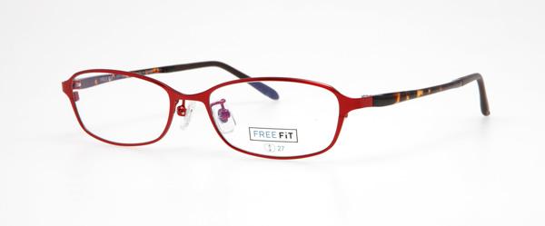 眼鏡市場 FREE FiT(フリーフィット)FFT-1004 カラー:BK(ブラック)・BLU(ブルー)・BR(ブラウン)・RE(レッド、写真、門脇麦着用モデル) 価格:16,200円(税込、レンズ代込み)