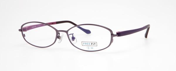 眼鏡市場 FREE FiT(フリーフィット)FFT-1005 カラー:BK(ブラック)・BR(ブラウン)・PU(パープル、写真)・RE(レッド、写真) 価格:16,200円(税込、レンズ代込み)