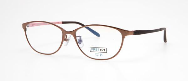 眼鏡市場 FREE FiT(フリーフィット)FFT-1006 カラー:BK(ブラック)・BR(ブラウン、写真)・LBR(ライトブラウン、門脇麦着用モデル)・RE(レッド) 価格:16,200円(税込、レンズ代込み)