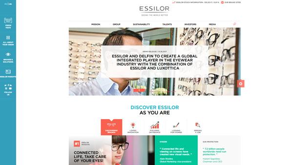 「Essilor Group」(スクリーンショット)
