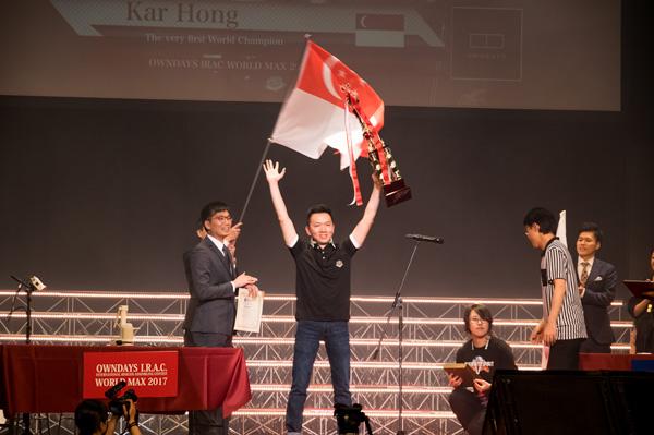 優勝はシンガポール代表のカーホーンさん。