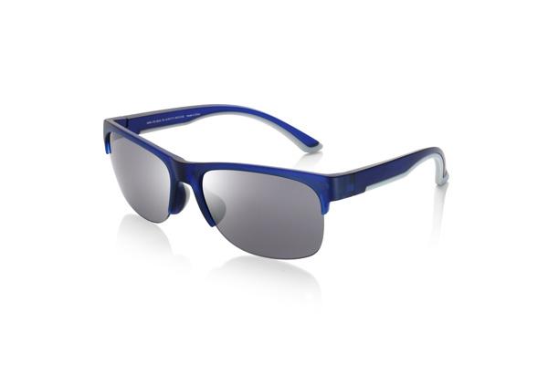 JINS(ジンズ)サングラス スポーツ MRN-17S-862 カラー:ブルー(グレー)(写真)・グレー(グリーンミラー) 価格:5,000円(税別) スポーツテイストのサングラス。※一部店舗でのみ取り扱い。