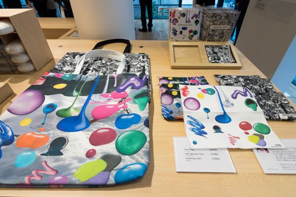 メガネ関連雑貨を先行発売。こちらは、金氏徹平氏がデザインした「アーティストライン」。 image by GLAFAS