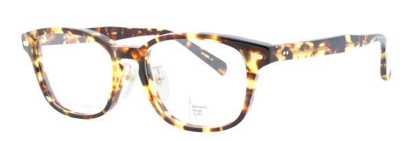 Manhattan Design Studio(マンハッタンデザインスタジオ)MDS-109 リム(ふち)を細身に仕上げたウェリントン。 サイズ:56□20-160 カラー:ブラック、イエローブラウンデミ(写真)、ブラックデミ