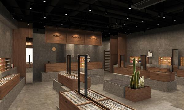 商品の良さを直感的に伝えるべくデザインされた店内。