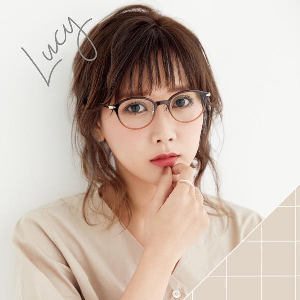"Zoff × RINA TANAKA ""GLASSES COLLECTION 2017"" 「Lucy(ルーシー)」ZA171044 カラー:68E1(グリーン、田中里奈着用モデル)・39E1(ブラウン)・49E1(ブラウン)・29E1(ブラウン) 価格:7,000円(税別、標準レンズ代込み)"