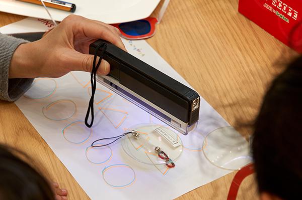 バイオレットライトを探す実験
