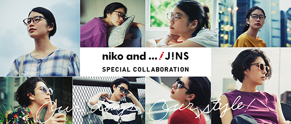 「niko and ...×JINS」キービジュアル