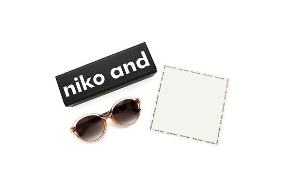 「niko and ...×JINS」サングラス