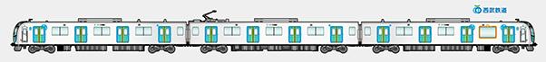 西武鉄道×JINS オリジナルセリート 価格:1,000円(税別) 40000系の車体をデザインした約80cmのロングメガネ拭き。