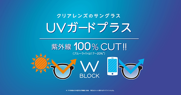 クリアレンズのサングラス「UVガードプラス」