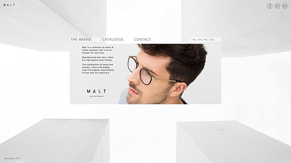 「MALT - EYEWEAR FROM BELGIUM」 (スクリーンショット)