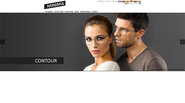 「Home » Minima les lunettes à la française」 (スクリーンショット)