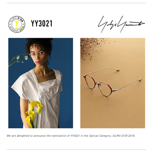 「Yohji Yamamoto — Brando Eyewear」 (スクリーンショット)