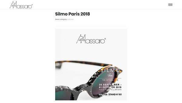 「Silmo Paris 2018 — Piero Massaro」 (スクリーンショット)