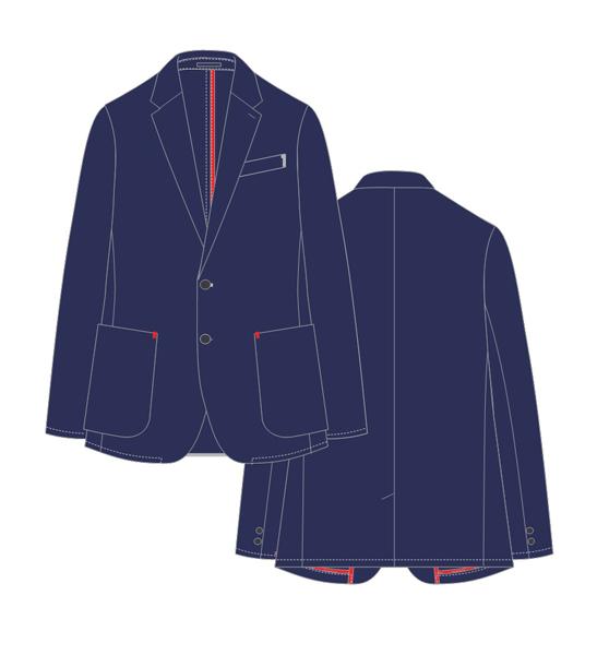 ジャケットはアメリカントラッドの自然なシルエットを採り入れた