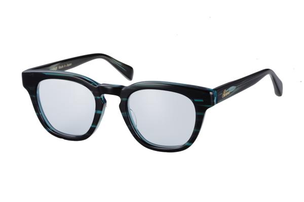 SWANS CLASSIC Series SWCG-001M カラー:BLSK フレーム:ササブルー レンズ:フラッシュミラー×ライトブルー(裏面マルチ) 参考価格:23,000円(税別)