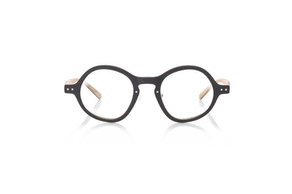 JINS Design Project(ジンズ デザインプロジェクト) Michele De Lucchi -Michele- UCF-18A-215 カラー:レイヤードマットブラック(98) 価格:12,960円(税込、度付きレンズ代込)