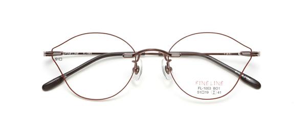 眼鏡市場 FINE LINE(ファインライン) FL-1003 カラーBR BO1