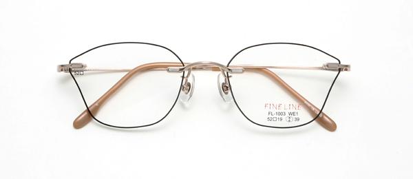※木村佳乃さんCM着用モデル 眼鏡市場 FINE LINE(ファインライン) FL-1003 カラーG WE1