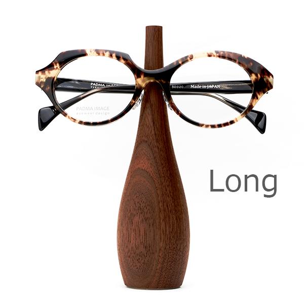 PADMA IMAGE(パドマイメージ) EYEWEAR STAND BOTTLE(Long)メガネを置いた状態。