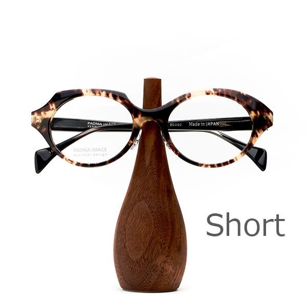 PADMA IMAGE(パドマイメージ) EYEWEAR STAND BOTTLE(Short)メガネを置いた状態。