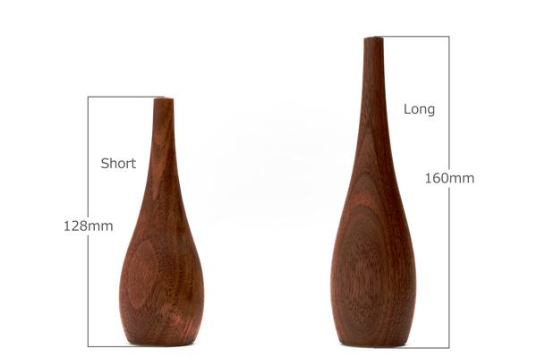 ショートとロングのサイズ比較。
