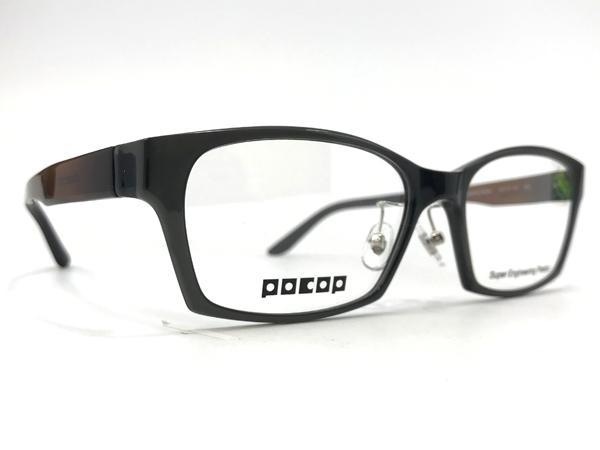 愛眼 POCOP(ポコプ) P-801 カラー3(GR/BR) サイズ:58□17-150 価格:17,980円(税込、薄型レンズまたは遠近両用レンズ付き)