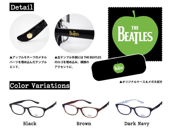 Beatles-001 The BEATLES ディテール、ケース&メガネ拭き、フレームカラー