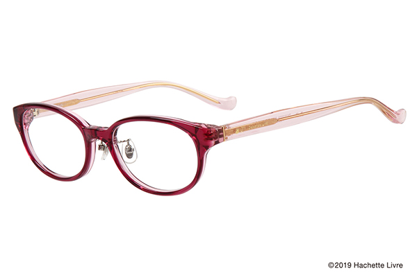 Zoff×Gaspard et Lisa(ガスパールとリサ) マカロンライン ZH191002-22A1 オーバル型 カラー:ピンク