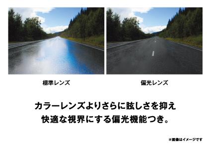 標準レンズと偏光レンズとの見え方比較