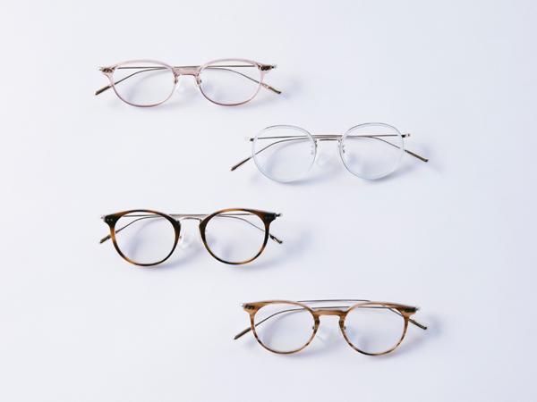 GLASSAGE(グラッサージュ) コスメティックメガネ 10型 各7色 全70種類 価格:28,000円(税別、360°UVカット薄型標準レンズ付き)