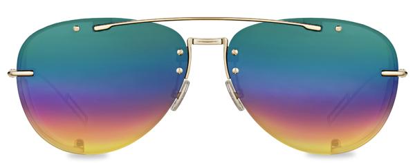 Dior(ディオール) DIORCHROMA1(ディオールクロマ 1) フレーム:ゴールドメタル レンズ:マルチカラーミラー 価格:62,000円(税別)