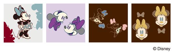 ミニーマウスのオリジナルパターン。女性に人気のカラーを中心にセレクト。