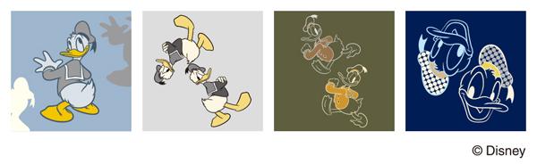 ドナルドダックのオリジナルパターン。ユニセックスでクールなカラーリング。