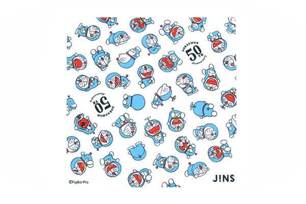 JINS ドラえもんモデル JINS SCREEN 50周年記念デザインのセリート(メガネ拭き)