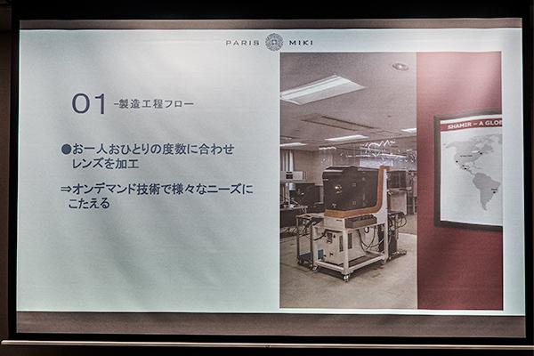 シャミールジャパン TOKYO 製造工程フロー