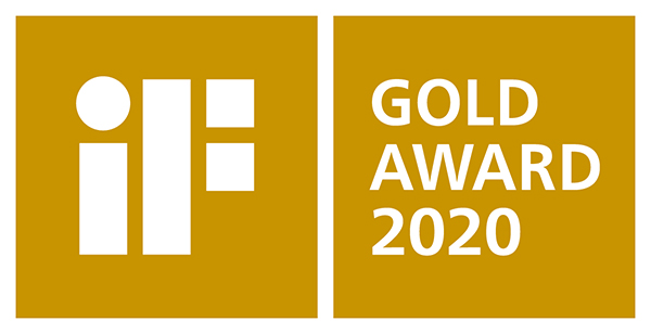 iF gold awards(iFゴールドアワード、金賞)ロゴ