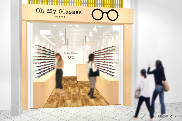 Oh My Glasses TOKYO 京都店 完成予想イメージ