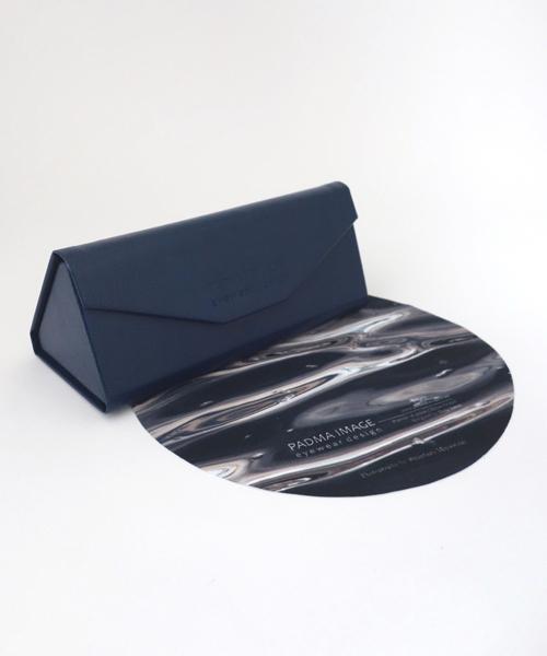 PADMA IMAGE(パドマイメージ) 三角の眼鏡ケースと丸の眼鏡拭き カラー:Navy