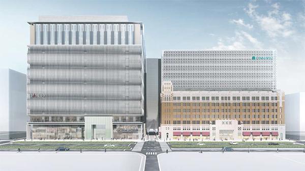 心斎橋PARCO、右:大丸心斎橋店本館