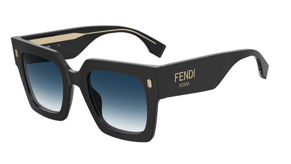 FENDI(フェンディ) FENDI ROMA(フェンディ ローマ) FF0457GS ブラックアセテート サングラス その2