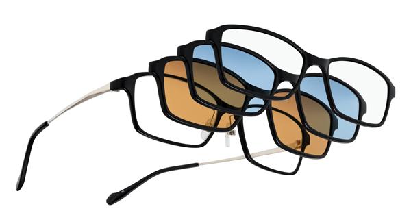 着脱式パーツでサングラスやブルーライトカット、花粉・飛沫対策にも使える機能性メガネ、眼鏡市場「FUN GLASSES(ファングラス)」
