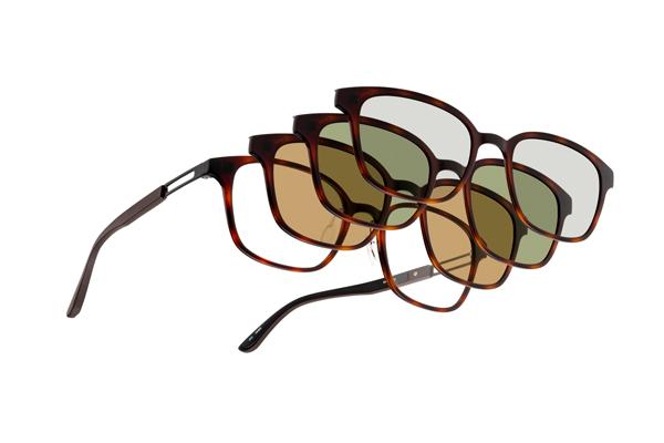 眼鏡市場 FUN GLASSES(ファングラス) active(アクティブ) FFT-CLIP01 カラー:BKM(ブラックマット)・DMBR(デミブラウン、写真)・NVM(ネイビーマット)